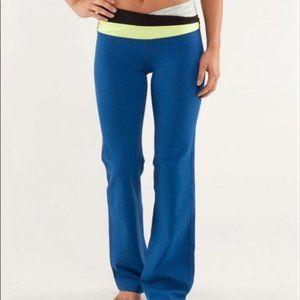 lululemon Astro Pants Blue/White/Yellow  Size 6